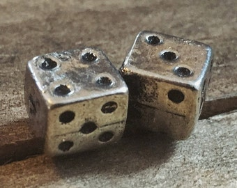 Tumbling Dice metal pin