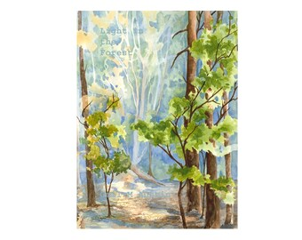 Wall art prints -watercolor -forest painting ~Wall Art ~Art Print ~Landscape ~Watercolor Tree Art ~Forest Watercolor ~Art ~Woodland art
