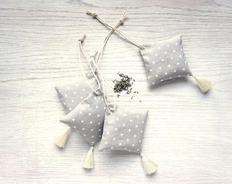 Lavender sachets, trio, one of a kind, handmade
