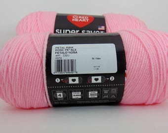 Petal Pink -  Red Heart Super Saver yarn 100 % acrylic worsted weight - 1080