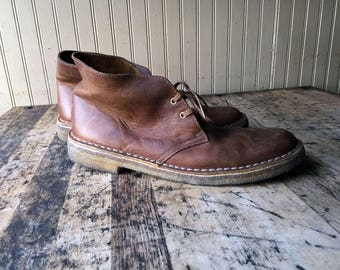 Vintage Clarks Leather Desert Boot Sz 9 M