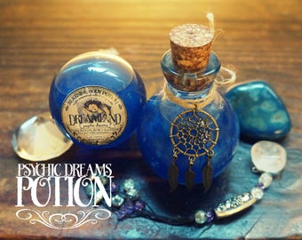Psychic Dreams Potion/Oil Blend *Dreamland* with Essential Oils and crystals -Frankincense, Rose, Lavender & Moonstone 110ml/3.7oz