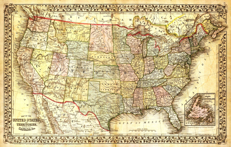 Map Usa Vintage - Oversized vintage maps