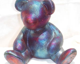 Raku Teddy Bear Bank
