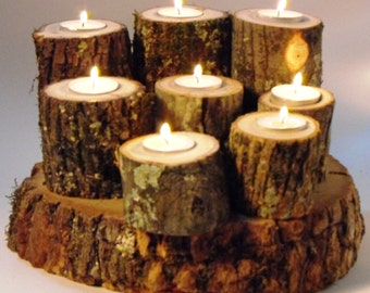 20 Rustic Tree Branch ea light Candle Holder 2.5-5.5 inch tall,  Weddings, Corporate Parties, Retreats