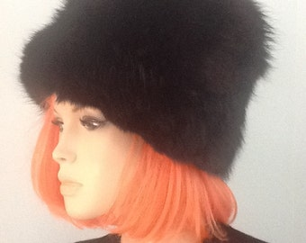 Hat,Mink,Abraham and Straus,Bucket Hat,60's Hat,70's Fur Hat