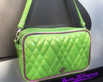 Glitter Retro Handbag • Sparkle Vintage Style Vinyl Bag • Metal Flake Rockabilly Purse • Psychobilly • Boxer • Made in USA
