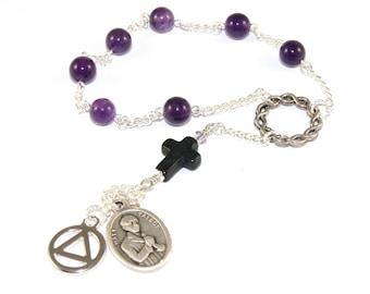 Recovery Prayer Chaplet of Matt Talbot, Patron Saint of Alcoholics, Serenity Prayer Pocket Rosary