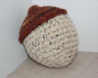 LARGE wool acorn with rattle inside