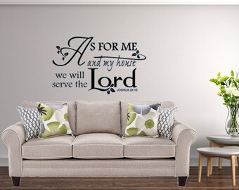 Religious Wall Decal | Etsy
