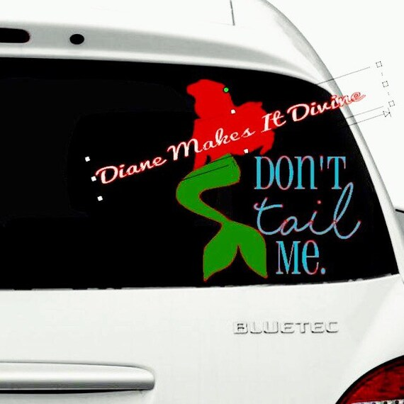 Little mermaid car decal disney car decal vinyl sticker funny car decals car accessories