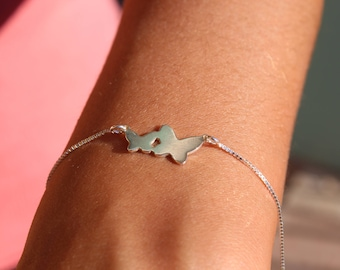 Butterfly Bracelet, Delicate Bracelet, Tiny Bracelet, Dainty Bracelet, Charm Bracelet, Bracelet For Women, Silver Bracelet, Gift for her