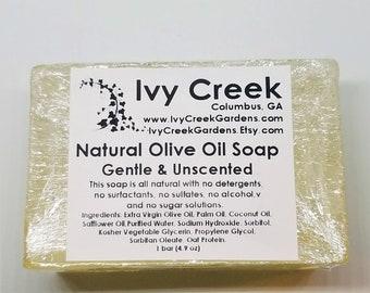 Unscented Olive Oil Soap, Natural Soap, Holistic Soap, Gentle Soap, Olive Oil Soap, Unscented Soap, Natural Olive Oil, Olive Oil