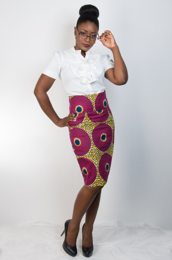 Ankara Asabi Skirt Straight Skirt