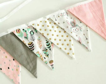 Fabric bunting / garland / nursery decor