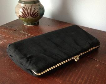 vintage 1950's black chiffon handbag by HL