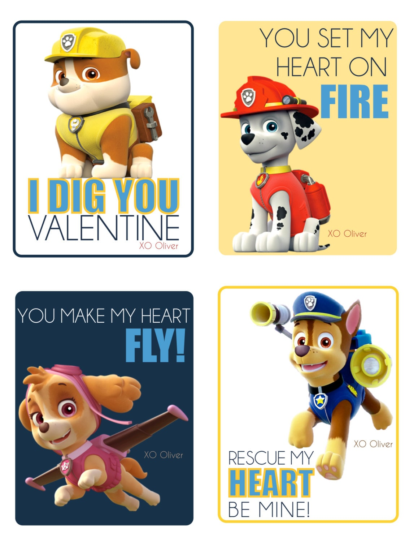 Paw Patrol CUSTOM Valentine 39 s Day