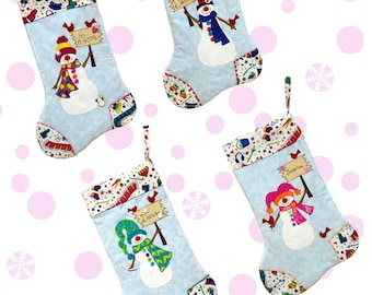 Build-A-Snowman Stocking Pattern, Design Your Own Christmas Stocking