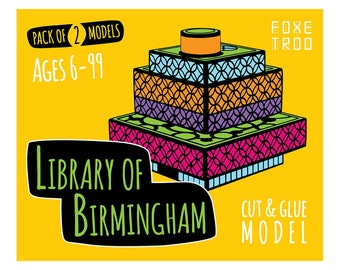 Library of Birmingham: Cut-Out & Glue Paper Model Kit || Stocking Filler