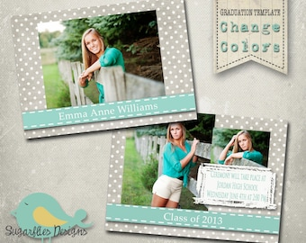 Graduation Announcement PHOTOSHOP TEMPLATE -  Senior Graduation 10