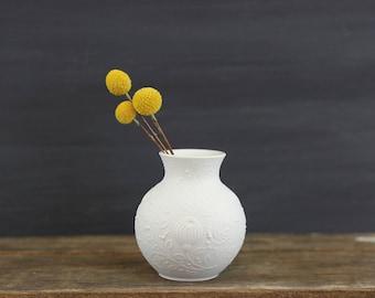 Mid Century Modern White Bisque Vase by AK Kaiser Germany / Vintage AK Kaiser Bisque Vase / AK Kaiser White Porcelain Vase