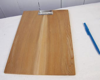 READY TO SHIP - Wood + Leather Clipboard - Writing pad - Picture Frame -