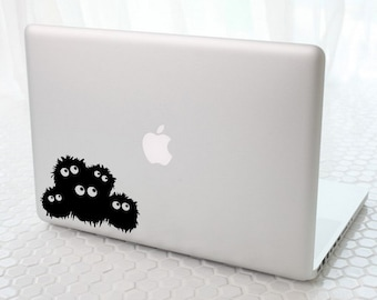 Spirited away sootballs- Anime Decal for Macbook, Laptop, iPad, iPhone, Car, Windows, Wall, Nintendo 3ds, XBox, Playstation etc
