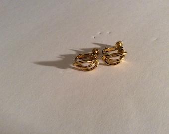 Napier Gold Tone Earrings