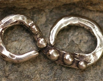 Artisan Dotted S Hook Sterling Silver Connector Link, SH2