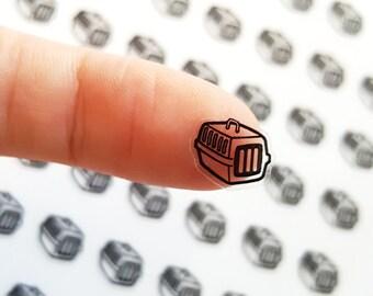 56 Pet Carrier Stickers, Pet Carrier Planner Stickers, Pet Stickers, Cat Stickers, Dog Stickers, Happy Planner, ECLP Stickers | B124