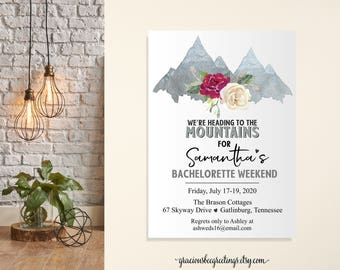 Bachlorette Party Invitation, Girls Weekend Get Away Invite, Bridal Shower, Bachlorette Itinerary, Bachlorette Weekend, Printable, Digital