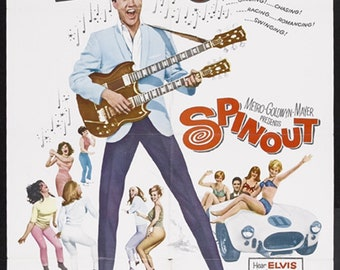 Spinout 1966 Elvis Presley musical movie poster reprint 19x12.5 inches