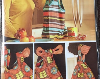 Indygo Junction Take To Market Bags Sewing Pattern IJ 1112 Uncut Complete