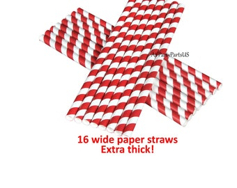 red and white straws, graduation party decorations, nursing school graduates, school colors, team spirit, football party, sports, paper