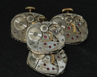 Vintage Watch Movements Parts Steampunk Altered Art Assemblage RB 96