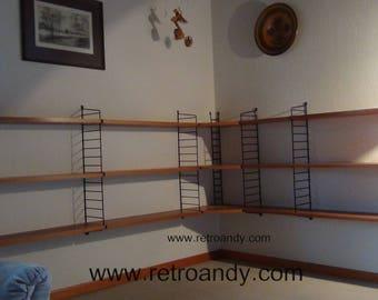 Vintage Nisse Strinning corner wall unit