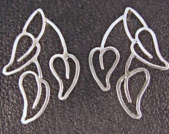 Whispering Leaves Sterling Silver Earrings