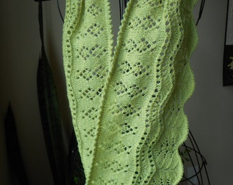 """Knitting Pattern for Lace and Beaded Cowl """"Felicitous"""" PDF"""
