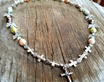 Angels and Cross Necklace
