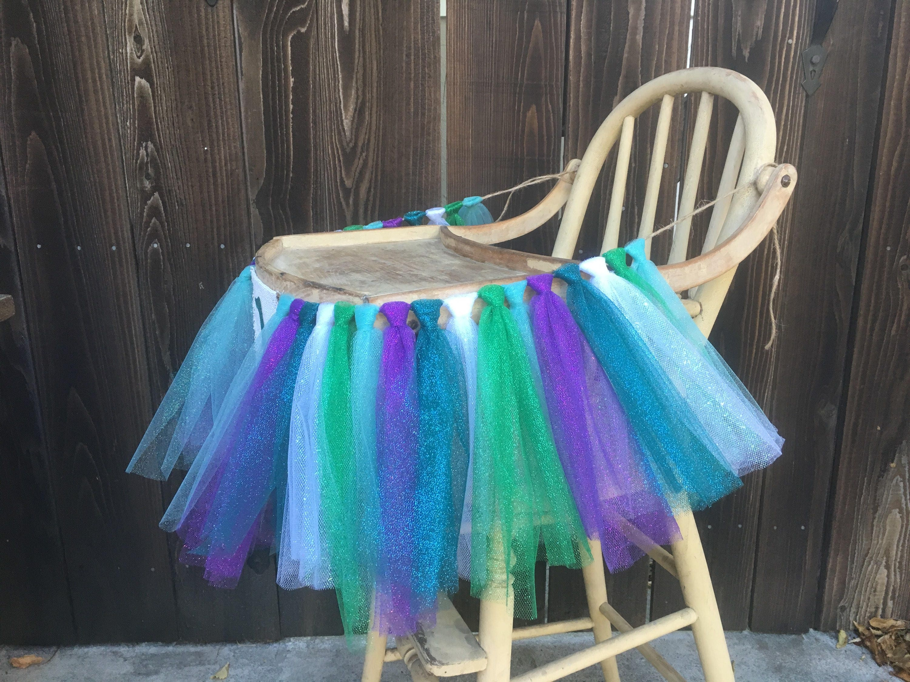 High Chair Banner,First Birthday,1st Birthday,Mermaid High Chair ...