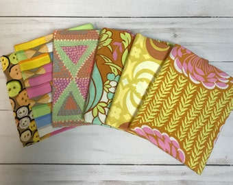 Amy Butler Fat Quarters Pink Yellow Set of six 18x21