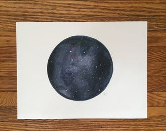 LIttle Dipper Constellation Watercolour Print
