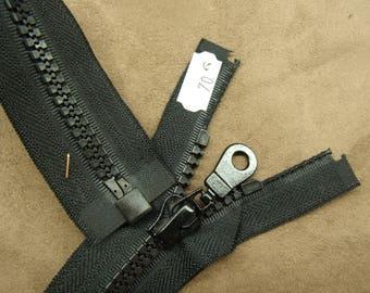 Separable zipper - 70 cm - black
