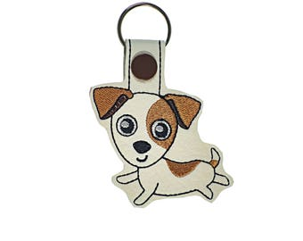 Cute pet gift under 10 Jack Russell Terrier key fob gift for kid, Stocking stuffer dog gift under 15