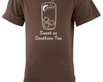 Sweet as Southern Tea Silhouette Baby Bodysuit
