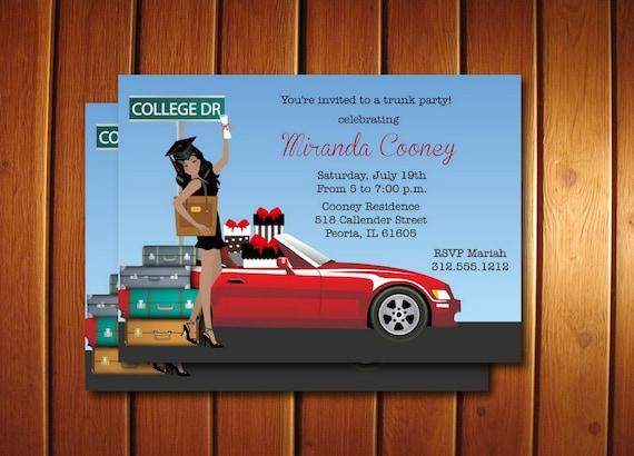 Graduation Trunk Party Invitations Printable Graduation