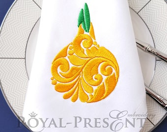 Onion machine embroidery design