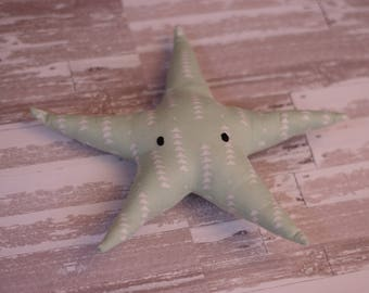 Green Starfish Fabric Stuffed Animal