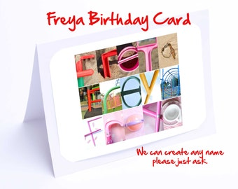 Freya Personalised Birthday Card