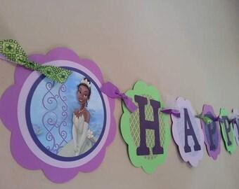 Tiana, Princess and the Frog Birthday Banner